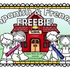 Spanish-French-Back-to-School-Coloring-Pages-FREEBIE Spanish & French Back to School Coloring Pages FREEBIE! Cartoon