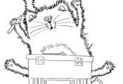 Splat the Cat Back to School Coloring page