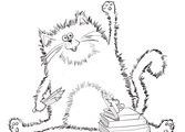 Splat the Cat Back to School coloring page | SuperColoring.com