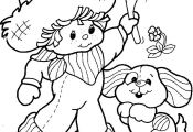 Strawberry Shortcake color page, cartoon characters coloring pages, color plate,...