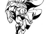 Superman color page, cartoon characters coloring pages, color plate, coloring sh...