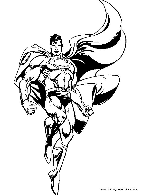 Superman color page, cartoon characters coloring pages, color plate, coloring sh… Wallpaper