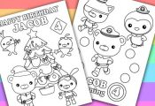 The Octonauts  2 Personalized Coloring Pages  by PetiteMonkey