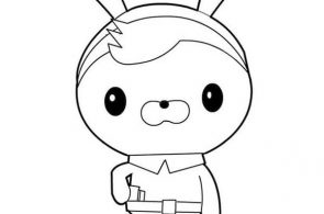 The Octonauts, : Awesome Tweak Bunny from The Octonauts Coloring Page