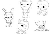 The Octonauts Characters Coloring Page - Download & Print Online ...