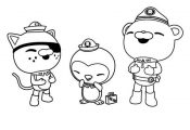 The Octonauts, Kwazii and Peso and Captain Barnacles Laughing Together in The Oc...