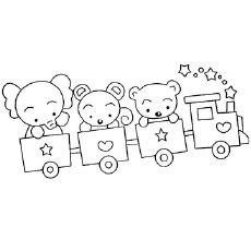 The-Teddy-Bear-And-Elephant-On-Train The-Teddy-Bear-And-Elephant-On-Train Train