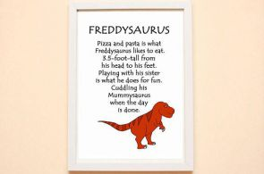 The Tyrannosaurus Rex is one of the most recognisable dinosaurs. This fun colour...