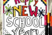 These 8 Back to School Coloring Pages are perfect for welcoming students to a ne...