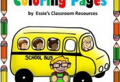 These Back To School coloring pages are simple and fun and can be used to allow ...
