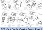 These FREE CVC Word Family Coloring Pages: Short A Vowel printables from 3 Dinos...