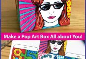 This 'All About Me Pop Art Box' is a fun Back to School art activity for the...