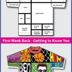 This 'All About Me T shirt' art and writing activity is an easy back to scho...