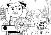 Thomas And Friends Coloring Pages  Thomas Train Coloring Pages Printable Christm...