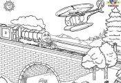 Thomas The Train Coloring Pages | Tweeting Cities | Free Coloring ...