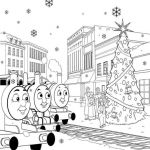 Thomas The Train Printable Winter Coloring Pages For Kids - Winter ...