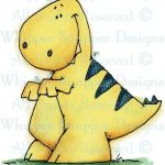 Tiny T-Rex - Dinosaurs - Animals - Rubber Stamps