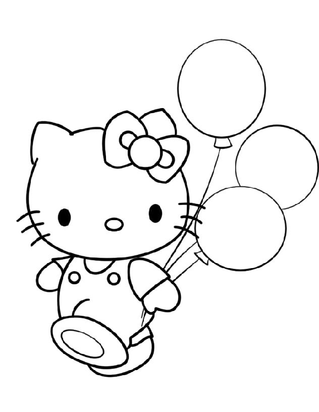 Top 30 Hello Kitty Coloring Pages To Print procoloring.com/… Wallpaper