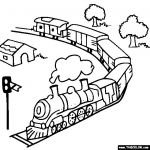 Toy Train Online Coloring Page