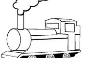 Train Coloring Page | Free Train Online Coloring