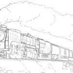 Train Coloring Pages for Adults Check more at coloringareas.com...