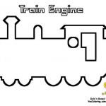 Train Engine Picture To Print Out