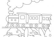 Train coloring page 3 | Download Free Train coloring page 3 for kids | Best Colo...
