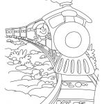 Train coloring page 4 | Download Free Train coloring page 4 for