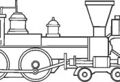Train coloring pages - lots!
