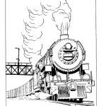 Trains and Railroads Coloring pages - Railroad Train coloring | BlueBonkers
