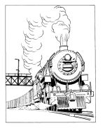 Trains and Railroads Coloring pages – Railroad Train coloring | BlueBonkers Wallpaper