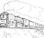 Union Pacific Train Coloring page