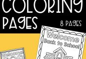 Use these back to school coloring pages as a back to school activity with your c...