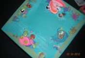 Used coloring pages and painted the Octonauts on a table