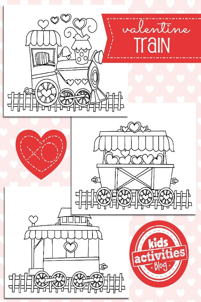 Valentine-Train-Coloring-Pages-Kids-Activities-Blog Valentine Train Coloring Pages - Kids Activities Blog Train