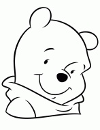 Winnie The Pooh Bear Portrait Picture Coloring Page and many other cartoon color...
