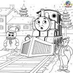 Winter Printable Worksheets | Thomas the Train Winter Coloring Page {thomastheta...