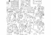 Worksheets: Hidden Object: Back to School