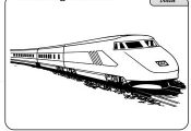 Worksheets: Train Coloring Page
