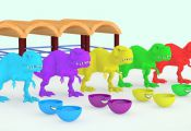 #WrongColors for Surprise Eggs, Dinosaurs Eat Oreo Cookies #z #LearnColors Learn...