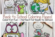 Your students will ♥️LOVE♥️ these 68 Back to School Themed Coloring Page...