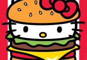 Yum, it's National Cheeseburger Day! Hello Kitty, September 2016