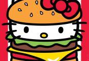 Yum, it's National Cheeseburger Day! Hello Kitty, September 2016