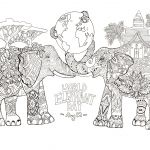 African Elephant Coloring Page African Elephant Coloring Page