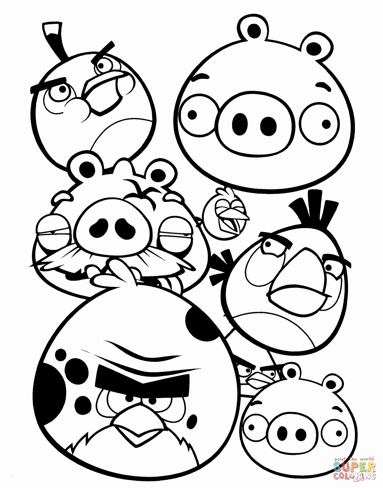 Angry Birds Coloring Pages for Learning Colors Angry Birds Coloring Pages for Learning Colors