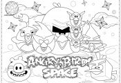 Angry Birds Coloring Pages Space Angry Birds Coloring Pages Space