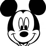 awesome Mickey Mouse Face Cartoon Coloring Page