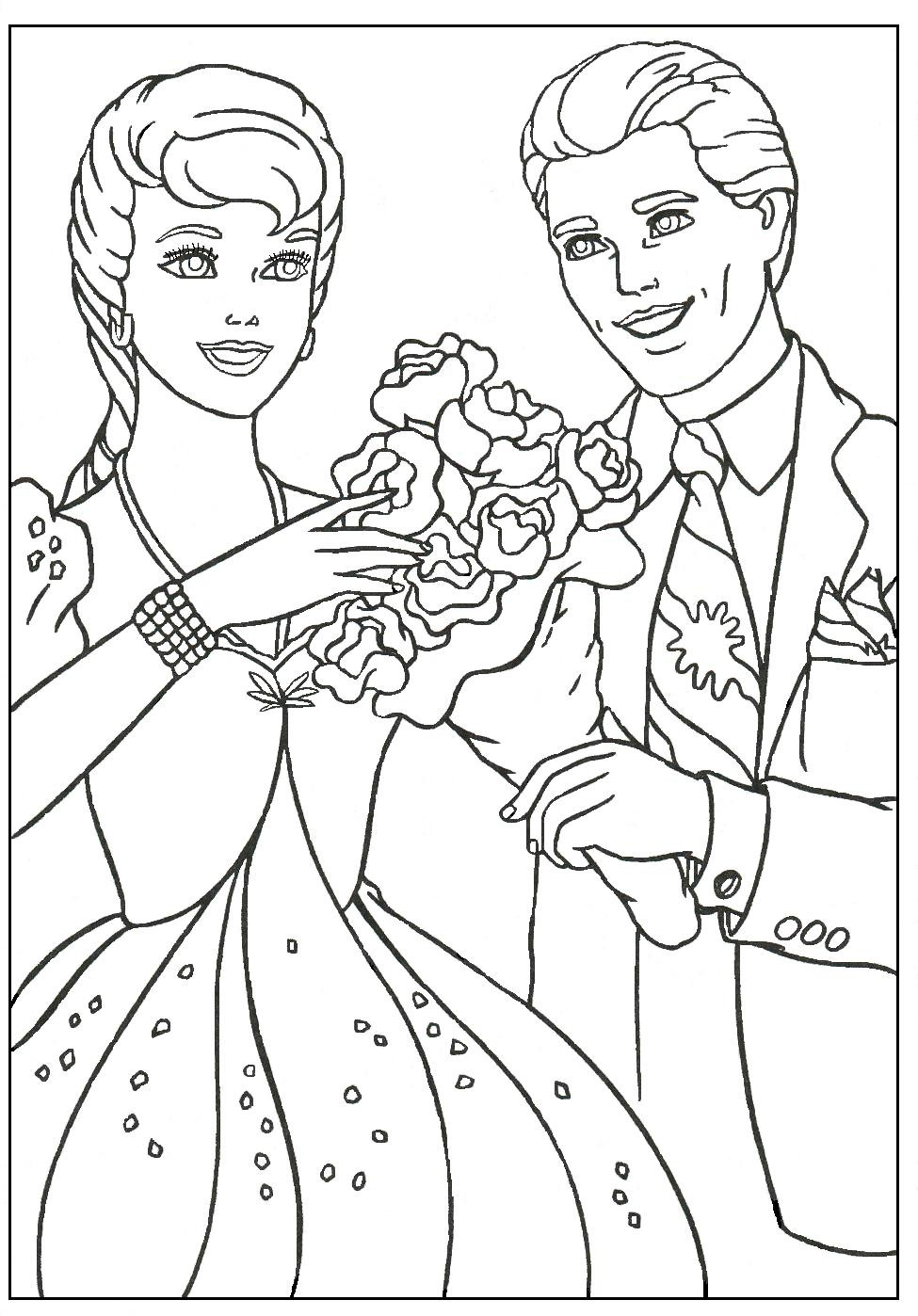 barbie-and-ken-coloring-pages-of-barbie-and-ken-coloring-pages Barbie and Ken Coloring Pages Cartoon