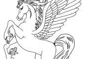 Barbie and Pegasus Coloring Pages Barbie and Pegasus Coloring Pages
