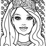 Barbie Face Coloring Pages Barbie Face Coloring Pages